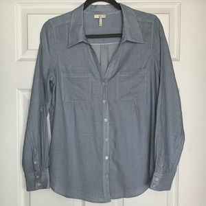 Joie striped button down shirt blue white small s